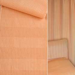 ткань обив. абрикосовая в полоску (вельвет) ш.140 оптом