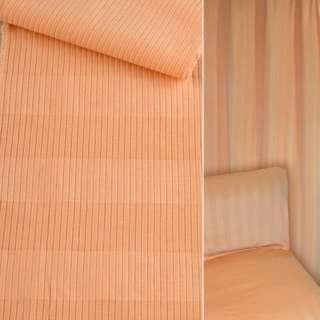 Велюр мебельный в рубчик 5мм в полоску абрикосовый ш.140 оптом