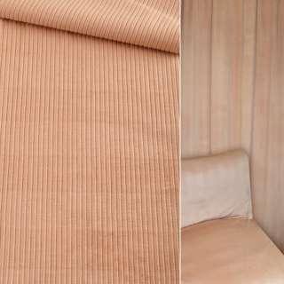 Велюр вельвет вискозный мебельный бежевый ш.140 оптом