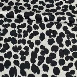 Велюр вискозный мебельный черно белый леопард оптом