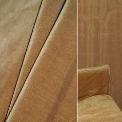 Велюр вискозный мебельный темно-бежевый ш.140