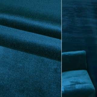 Велюр віскозний меблевий синій ш.140 оптом