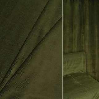 Велюр вискозный мебельный зеленый ш.140 оптом
