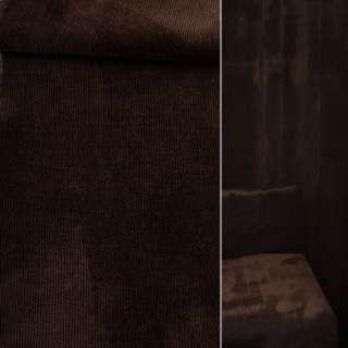 Велюр віскозний меблевий темно-коричневий ш.140 оптом