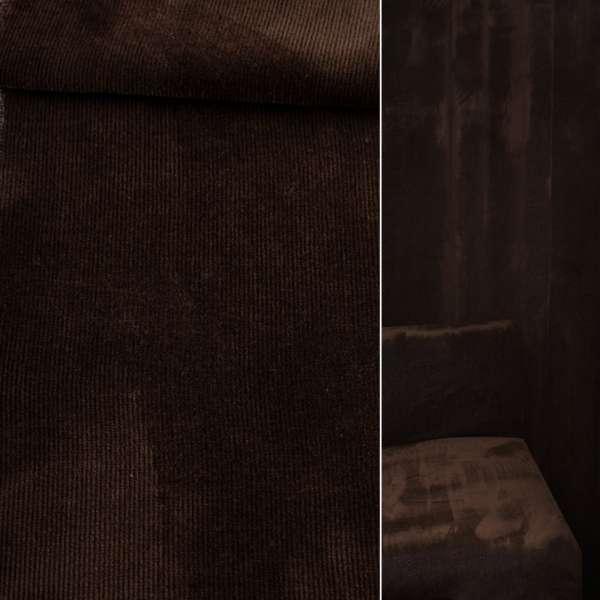 Велюр вискозный мебельный темно-коричневый ш.140 оптом