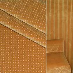 Велюр вискозный мебельный светло горчичный с белыми точками ш.140 оптом