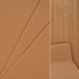 Велюр вискозный мебельный оранжевый в коричнево-белую клеточку ш.140 оптом