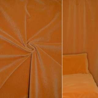 Велюр шерстяной мебельный оранжевый ш.140 оптом