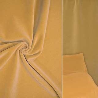 Велюр шерстяной мебельный светло горчичный ш.140 оптом