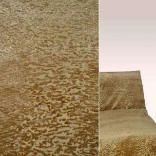 Велюр на шеніллі золотисто-мідний в корали ш.138 оптом
