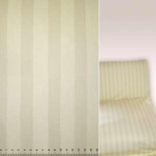 Коттон блідо-жовті бежеві смужки ш.145 оптом