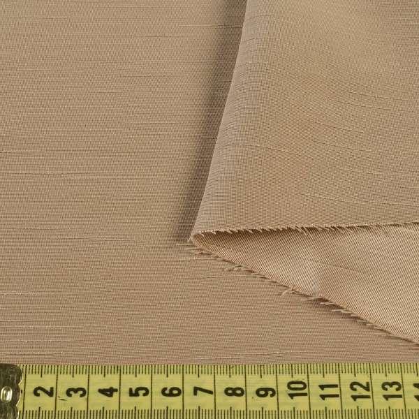 Ультра портьерная бежевая в структурные штрихи, ш.150 оптом