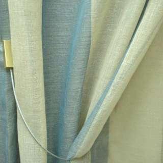 ткань гардинная в серо-бежевую полоску ш.140 оптом