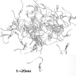 основание для сережки (швензы) белое оптом
