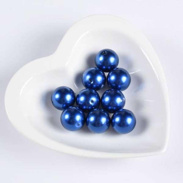 Бусина под жемчуг синяя 20мм (цена за 1г) оптом