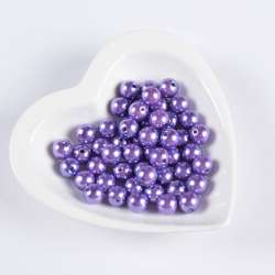 Бусина жемчуг фиолетовая 12мм (цена за 1г) оптом