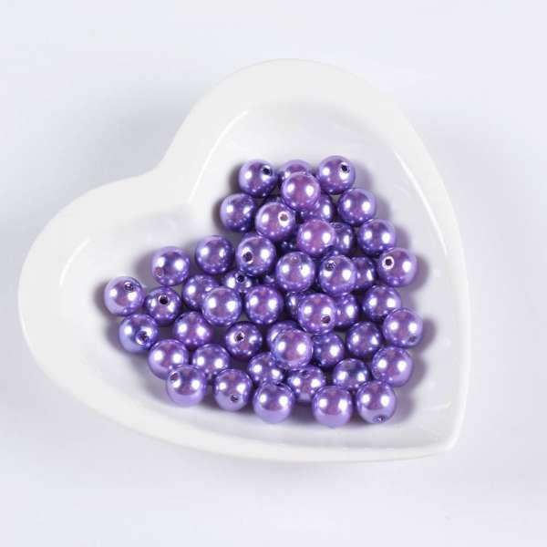 Бусина под жемчуг фиолетовая 12мм (цена за 1г) оптом