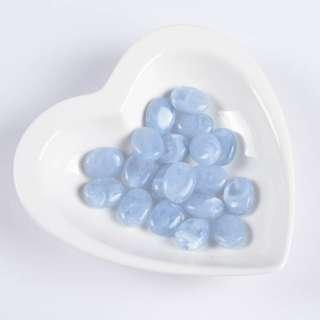 Бусина акрил голубая 15х20мм (цена за 1г) оптом