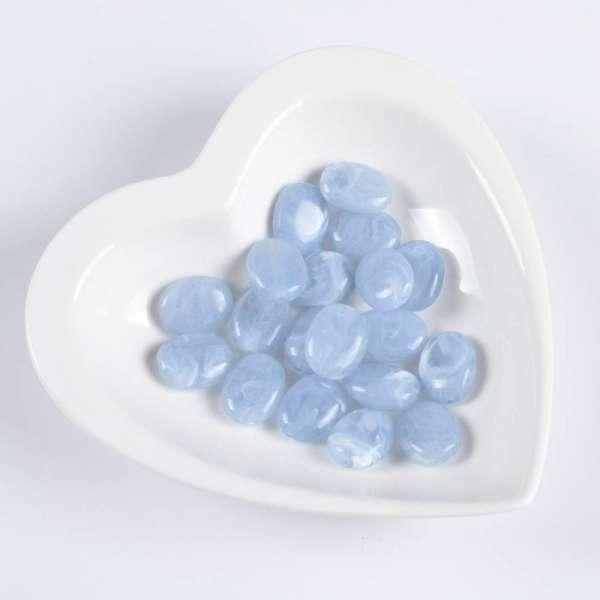 Бусина акриловая мрамор голубая 15х20мм (цена за 1г) оптом