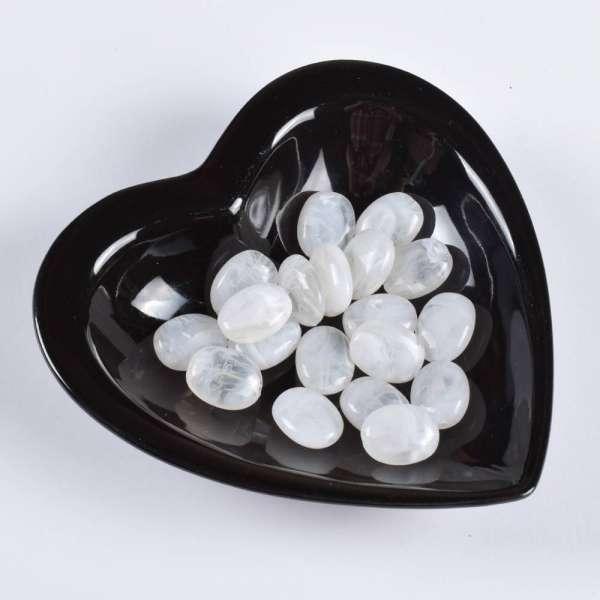 Бусина акриловая мрамор белая 15х20мм (цена за 1г) оптом