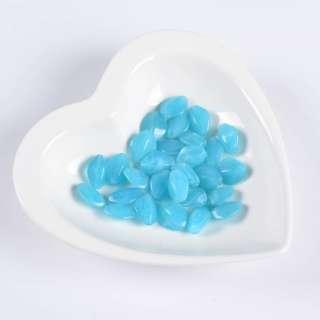 Бусина акрил голубая 13х16мм (цена за 1г) оптом