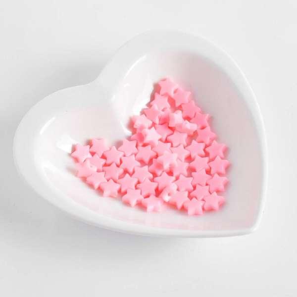 Бусина пластик звездочка 10мм розовая (цена за 1г) оптом