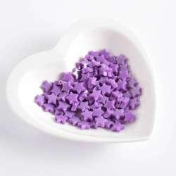 Бусина пластик звездочка 10мм фиолетовая (цена за 1г) оптом