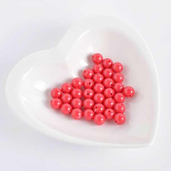 Бусина пластик 10мм красная (цена за 1г) оптом