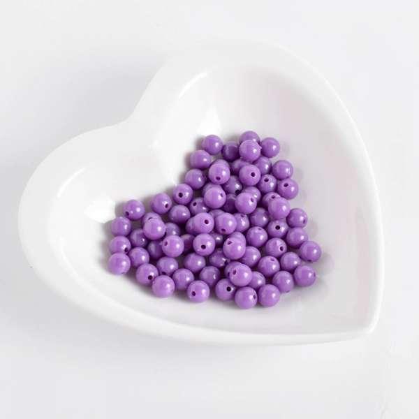 Бусина пластик 8мм фиолетовая (цена за 1г) оптом