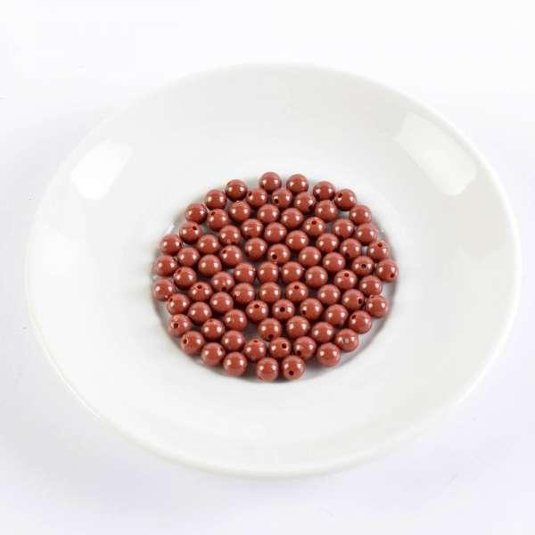 Бусина пластик 8мм коричневая (цена за 1г) оптом