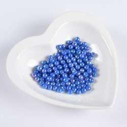 Бусина граненая синяя 6мм (цена за 1г) оптом