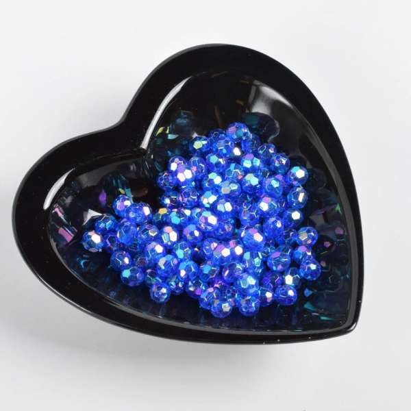 Бусина хрусталь синяя 8мм (цена за 1г) оптом