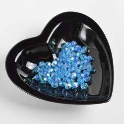 Бусина под хрусталь голубая 8мм (цена за 1г) оптом