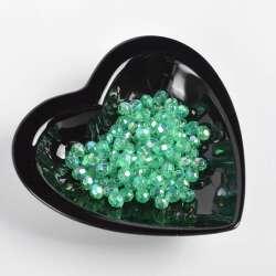Бусина хрусталь зеленая 8мм (цена за 1г) оптом