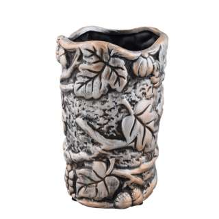 Кашпо в античном стиле керамика Виноградная лоза 19х12х12см вн. 17х10х10см под бронзу оптом