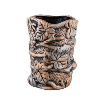 Кашпо в античном стиле керамика Виноградная лоза 24,5х18,5х17см вн. 23х14,5х14,5см под бронзу оптом