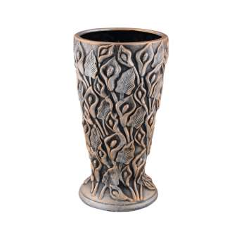 Кашпо в античном стиле керамика Каллы 30х16х16 см, вн. 29х14,5х14,5см под бронзу оптом