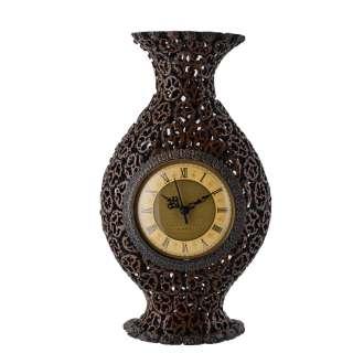 Часы настольные ваза под ореховый срез 37х21х8 см оптом
