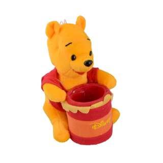 Мягкая игрушка подставка стаканчик 7,5х6,5х6,5 см Винни Пух 16см на присоске оптом