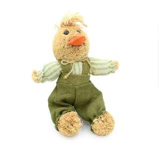 Интерьерная игрушка утенок соломенный 27 см 17х18х13 см оптом