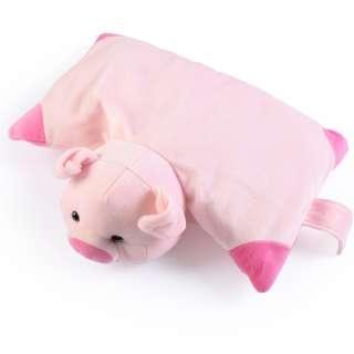 Мягкая подушка игрушка свинка 30х38 см высота 18 см розовая оптом