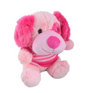 Мягкая игрушка собачка в кофточке 25 см розовая оптом