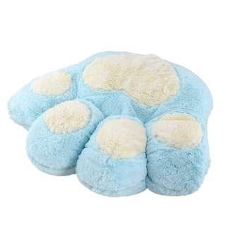 Мягкая подушка игрушка лапка 30х35 см голубая оптом