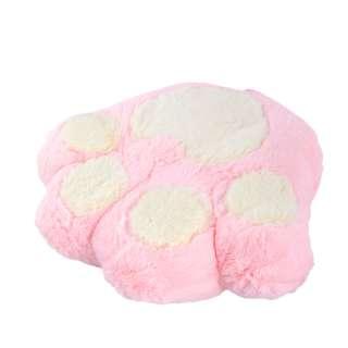 Мягкая подушка игрушка лапка 30х35 см розовая оптом