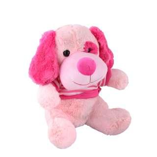 Мягкая игрушка собачка в кофточке 35 см розовая оптом