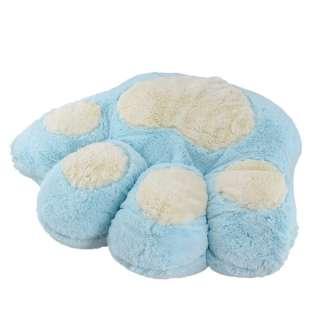 Мягкая подушка игрушка лапка 40х45 см голубая оптом