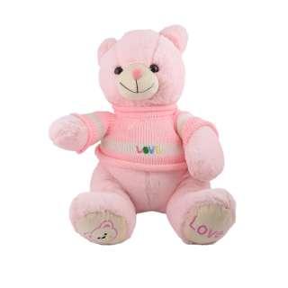 Мягкая игрушка мишка в розовой кофточке 40 см розовый оптом