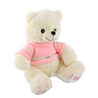 Мягкая игрушка мишка в розовой кофточке 40 см белый оптом