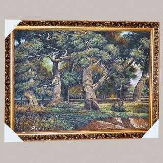 Картина гобелен рама с цветами 57х77 дубы оптом