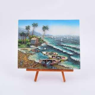 Картина настольная объемная на мольберте 18 х 22 см Морской берег оптом